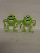"Lot Of 2 Vtg Disney Pixar Monsters Inc Poseable Action Figure Mike Wazowski 5"" - $39.99"