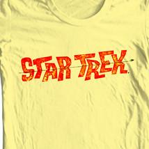 Star Trek Logo Tee Kirk  Spock T-shirt vintage original crew 100% cotton CBS1203 image 1