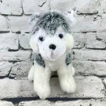 Hunter Husky Puppy Dog Plush Gray White Hanging Loop Stuffed Animal Soft Toy - $7.91