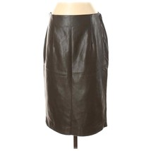 Philosophy Vegan/Faux Leather Straight Pencil Skirt - Size 4 Brown New/NWT - $29.95