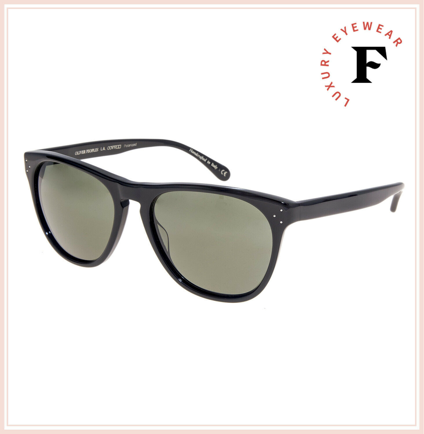 Oliver Peoples 5091 DADDY B Black Green Polarized Vintage Sunglasses OV5091S image 4