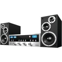 Stereo System W Bluetooth CD Player 50W FM Radio Streams 33 FT Music Com... - $128.65