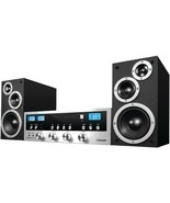 Stereo System W Bluetooth CD Player 50W FM Radio Streams 33 FT Music Com... - $128.65