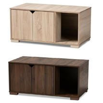 Cat Litter Box Cover Cat House Side End Table Furniture Oak Walnut Brown... - $114.95