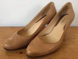 Cole Haan Light Camel Brown Stacked Leather High Heel Round Toe Pumps He... - $25.89