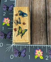 StampCraft Butterfly Butterflies Rubber Stamp Flying Background Border #I144 - $2.72