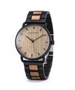 Bobo Bird Men's Steel Wooden Analog Quartz Wrist Watch GT023-3 - $44.00