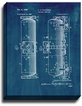 Railway Tank Car Patent Print Midnight Blue on Canvas - $39.95+