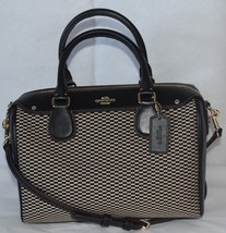 COACH Exploded Reps Mini Bennett Satchel, F57242, Milk Black, $275 - $119.99