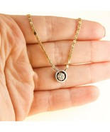 0.40ct DIAMOND Necklace Floating Pendant 18k Gold Chain BHS - $1,309.56