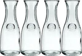 "Anchor Hocking 139UR 4-1/8"" x 11"" Glass Glass Carafe Decanter 1 Liter - ... - $23.90"
