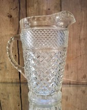 PERFECT MINT ANCHOR HOCKING WEXFORD PATTERN CLEAR CRYSTAL 2 QT BEVERAGE ... - $22.95