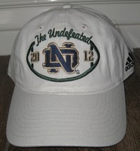New Adidas Notre Dame Fighting Irish 2012 The Undefeated SEASON Hat ONE ... - $21.87