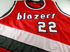 CLYDE DREXLER / NBA HALL OF FAME / AUTOGRAPHED TRAIL BLAZERS CUSTOM JERSEY / COA image 2