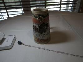 1996 Tasse Budweiser Noël Bière Stein Clydesdale Vacances Américain Homestead - $21.24