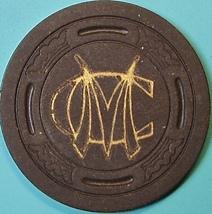 $20 Vintage Casino Chip. MC(Mint Cigar Store), Hayward, CA. 1946. Q25. - $22.50