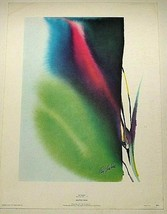 """PAUL JENKINS """"SOLSTICE NEAR"""" LITHOGRAPH PRINT 13 X 17 INCHES PLATE SIGNED - $39.99"""