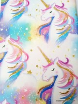 Unicornio Horse Wrapping Paper Gift Book Cover Party Wrap Party Gold Clouds 2 Sh - $15.79