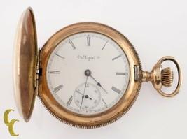 Elgin Grade 206 Full Hunter Gold Filled Pocket Watch 7 Jewel Size 6s 1903 - $234.94