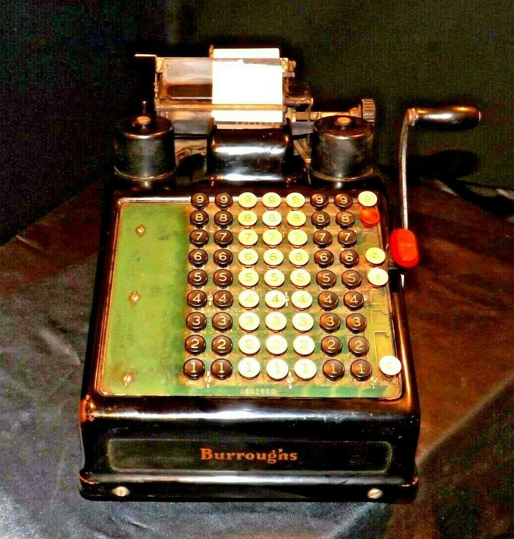 Antique Burroughs Hand Crank Adding Machine AA19-1533