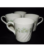 4 Corning Ware Corelle Tea Coffee Mugs Cups Callaway Ivy White Swirl #14... - $25.73