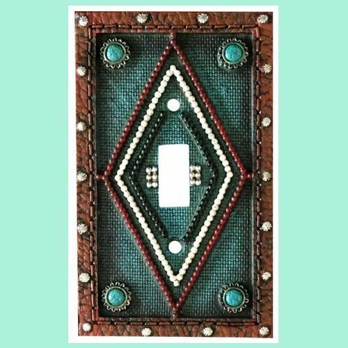 Montana West Single Wall Switch Turquoise Leather Look
