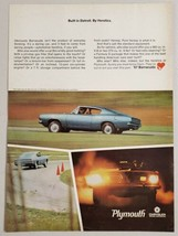 1967 Print Ad Plymouth Sports Barracuda 2-Door Car from Chrysler - $14.83