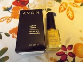 AVON Nailwear Nail Art Enamel-Yellow Glow NIB - $5.94
