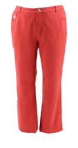 Quacker Factory DreamJeannes Tall 5Pocket Knit Denim Spice Red 8 NEW A21... - $35.62