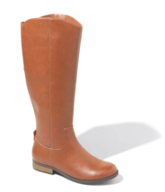 Universal Thread Women's Brisa Tall Faux Leather Cognac Brown Riding Boots NWT