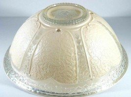 Antique Ornate Pressed Glass Hanging Ceiling Globe / Shade Vtg 30s/40s - $34.89