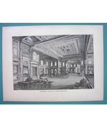 CONSTANTINOPLE Seraglio Palace Summer Parlor - 1887 Wood Engraving - $8.55