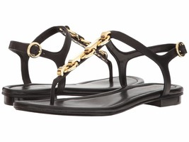 MICHAEL Michael Kors Mahari Leather Thong Sandals, Black Size 6.5 40S7MH... - $99.95