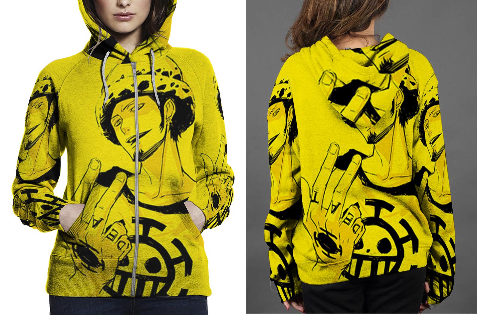 One piece trafaglgar zipper hoodie women s