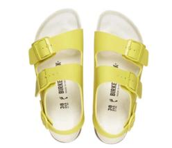Birkenstock Milano BS Lime Sour Yellow Strap Narrow Fashion Sandals Size... - $136.99