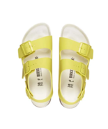 Birkenstock Milano BS Lime Sour Yellow Strap Narrow Fashion Sandals Size... - £99.99 GBP