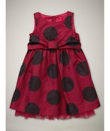 NWT GAP BABY GIRL BLACK DOT LUXE FANCY FRONT BOW SIZE 3 YEARS $45.95 - $24.74