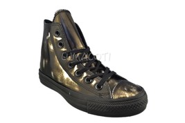 Converse Womens Chuck Taylor All Star Brush Off Leather High Top Black 553301C - $62.99