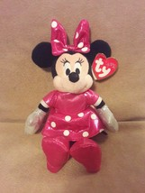 """TY SPARKLE Disney MINNIE from MICKEY MOUSE plush beanbag 8.5"""" pink SPARK... - $7.69"""