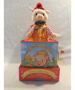 2001 Schylling Three Little Pigs Tin Musical Jack In The Box Toy with Pi... - $13.95