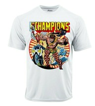 The Champions Dri Fit graphic T-shirt moisture wick superhero comic Sun Shirt image 2