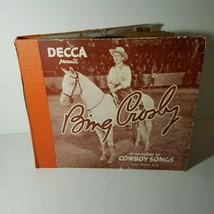 Bing Crosby Box LP Vinyl 6 Record Set 78 RPM Vintage - $15.99