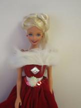 OOAK Collector Barbie by Hilda Barbiestyl Red Velvety Ballgown - $12.75