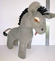 "Animal Fair Donkey Mule 13"" Plush Doll Gray Stuffed Animal Toy Vintage 1... - $28.95"