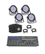 American DJ Mega Flat Pak Plus with UV LED Set + Chauvet Obey 6 DMX Cont... - £308.35 GBP