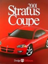 2001 Dodge Stratus Coupe Sales Brochure Catalog Us 01 Se R/T - $8.00