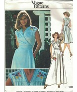 Vogue 1429 Vintage 70s Wrap Dress Pattern With Embroidered Yoke Size 12 ... - $14.69
