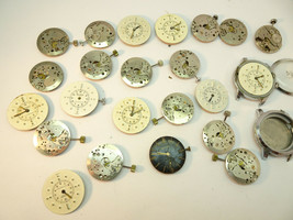 VINTAGE 17 JEWEL BELFORTE BRAILLE AND WATCH MOVEMENTS AND DIALS FOR REST... - $478.92