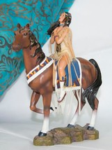 Sisters in Spirit Collection Indian Maiden on Horse - Seeking the Great ... - $19.75