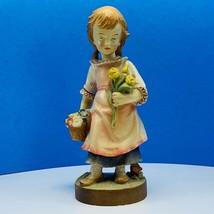 Dolfi original Italy sculpture figurine Lisi Martin girl flower basket s... - $74.25
